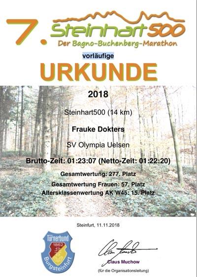 Steinhart 500 - Frauke